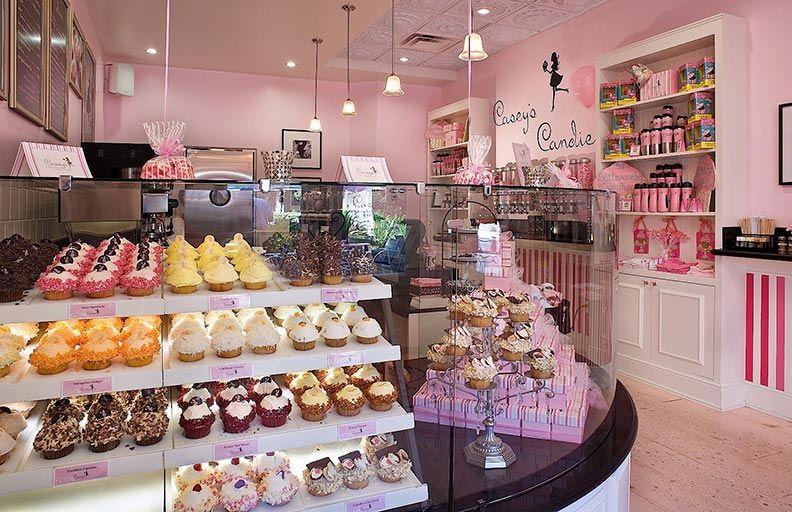 cupcakes on display at shop