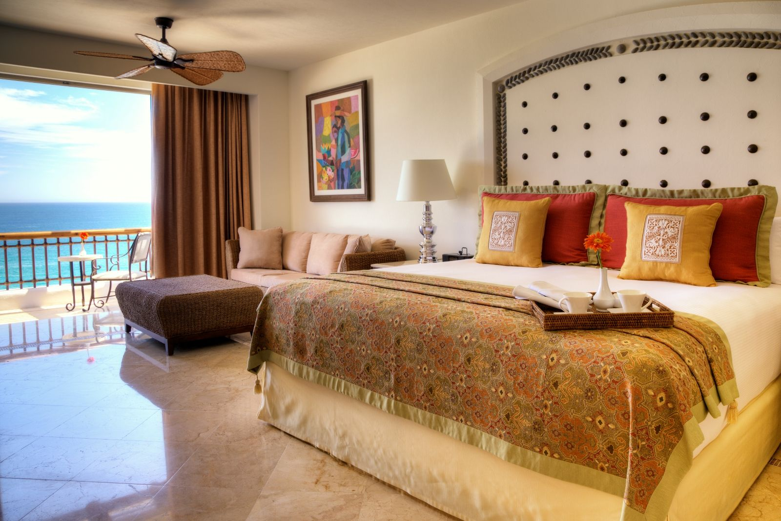 Presidential Suite bedroom with balcony