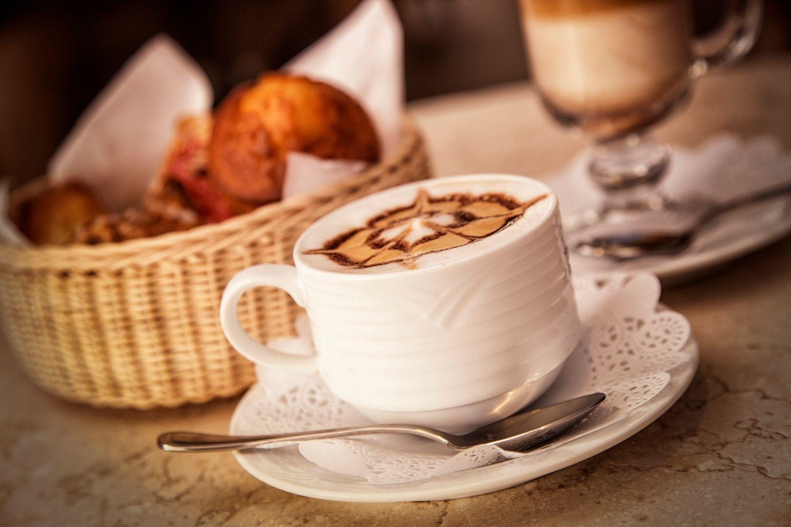 a fresh made hot latte