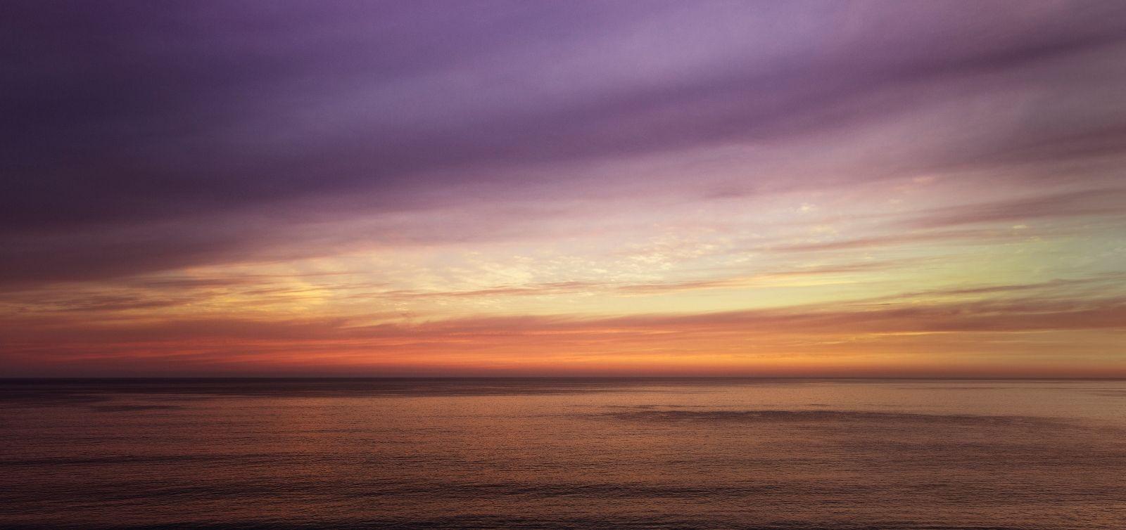 beautiful purple and gold sunset