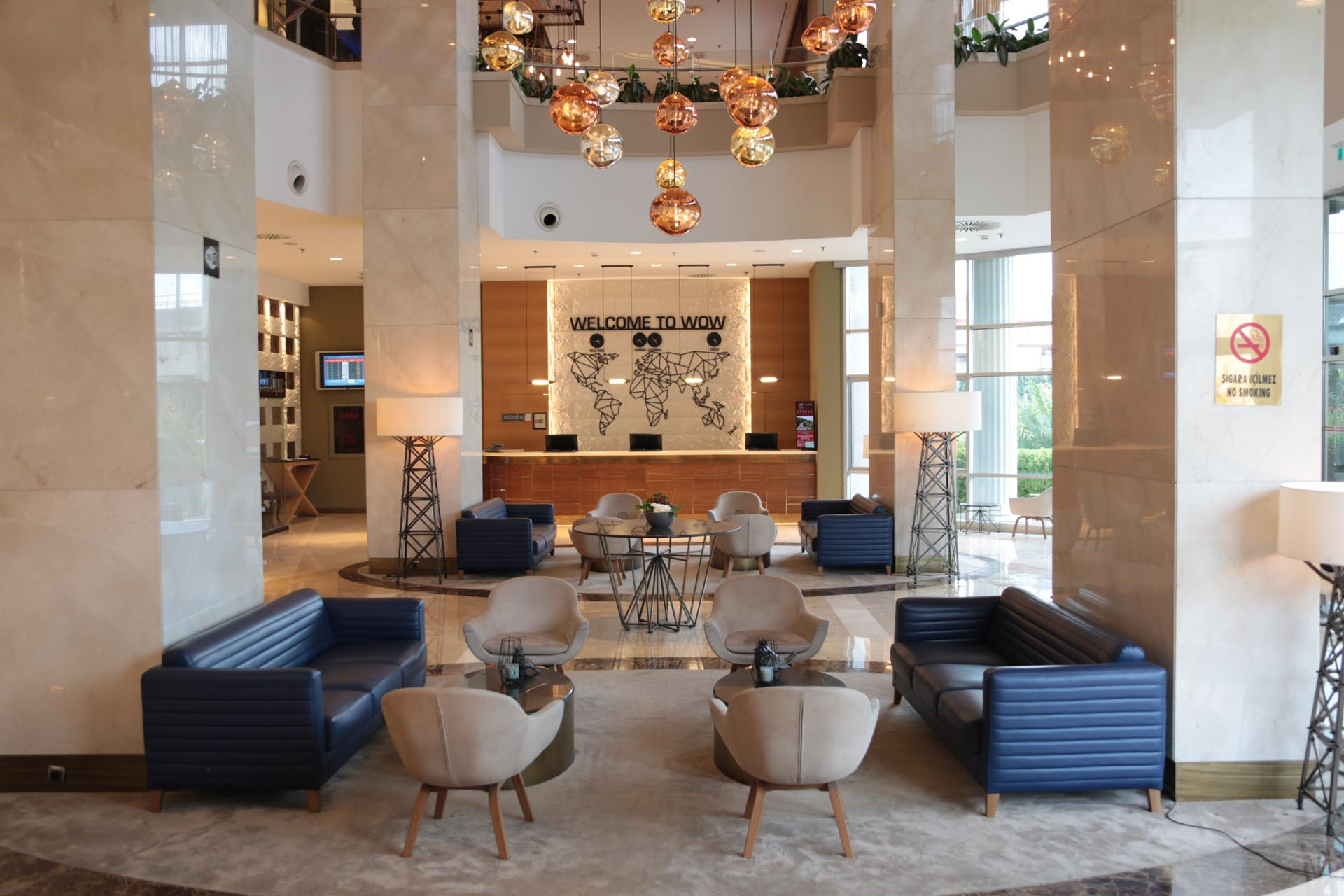 Hotel Lobby at WOW Istanbul Hotel