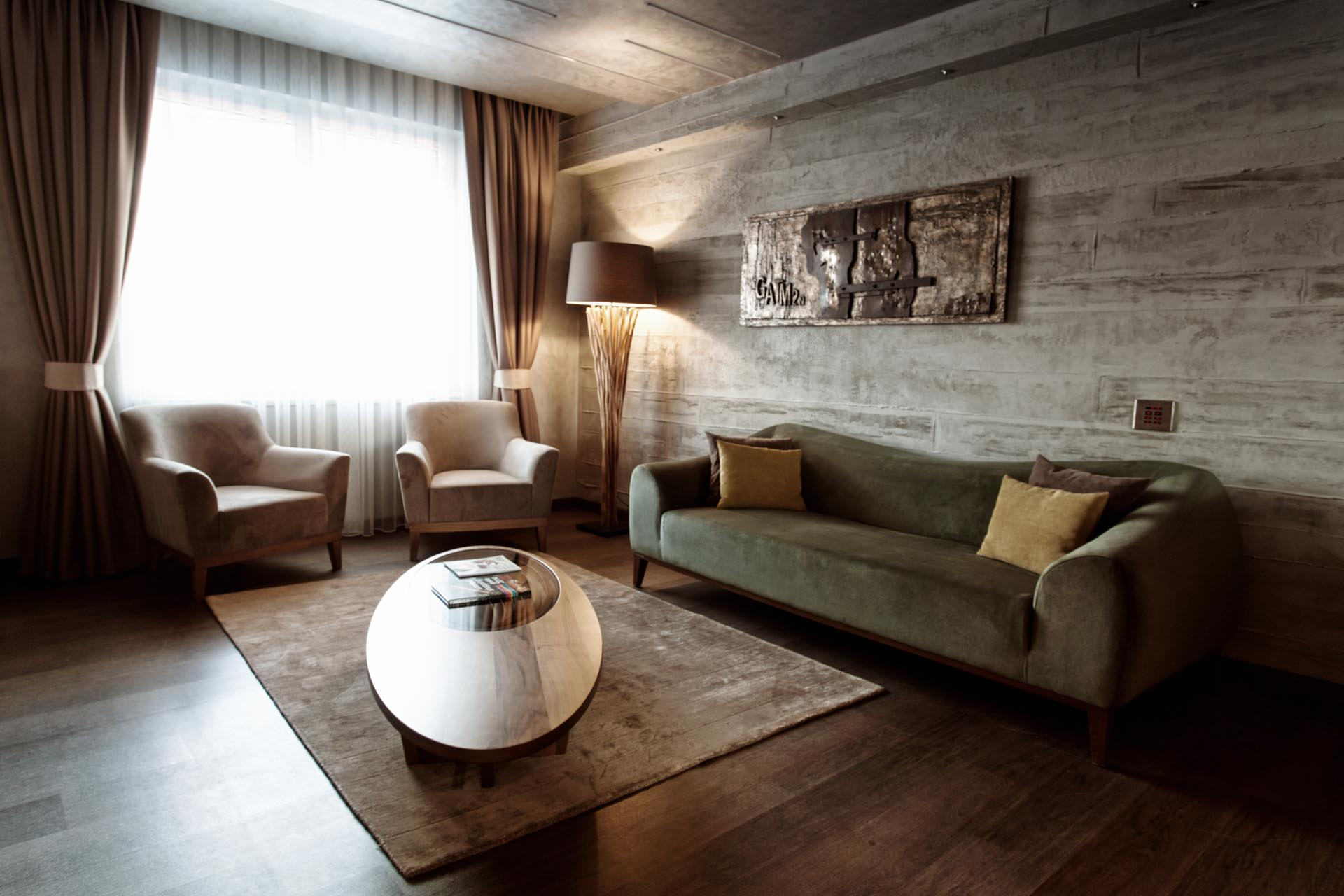 Grand Deluxe Suite Sitting area at WOW Istanbul Hotel