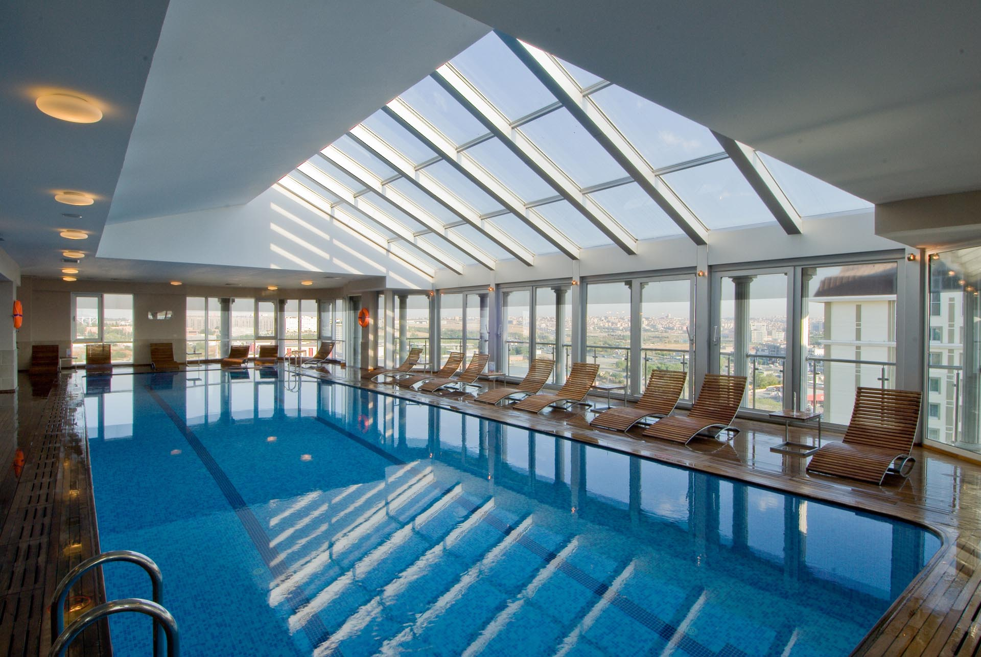 Indoor Swimming Pool at WOW Istanbul Hotel
