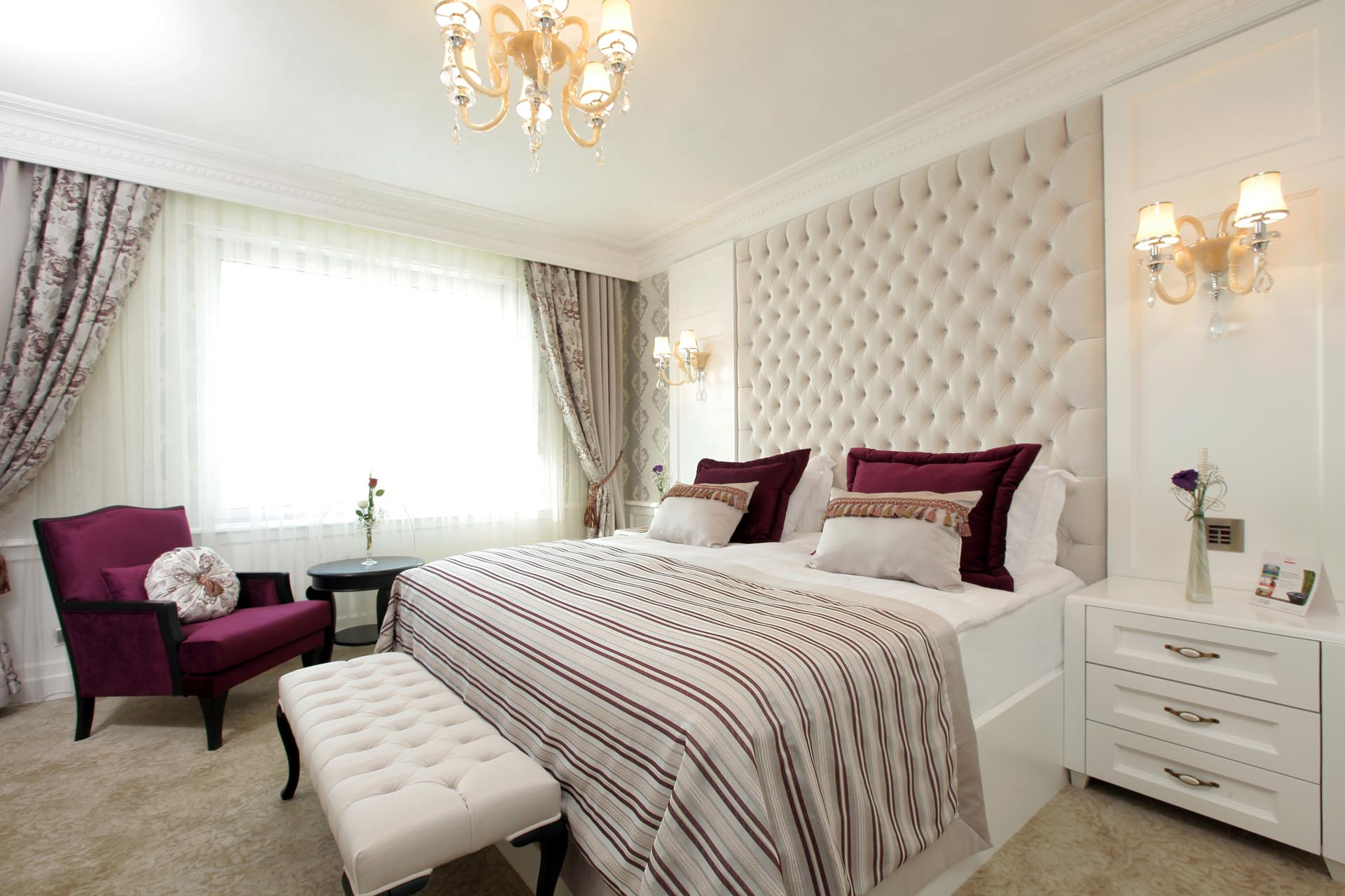 King Corner Suite with King size bed at WOW Istanbul Hotel