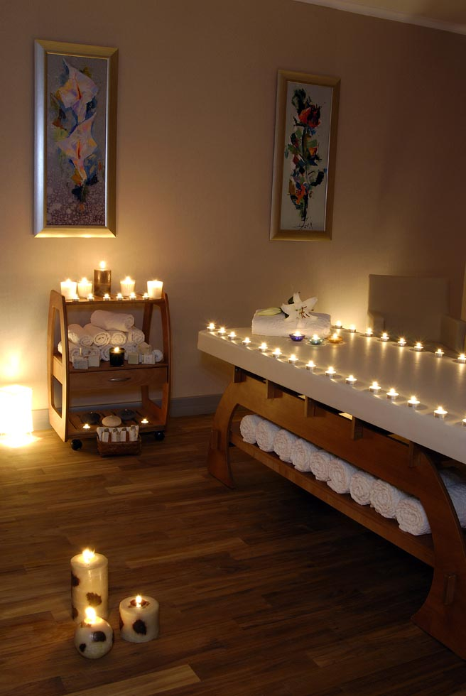 Lighthen candles in Health Club at WOW Istanbul Hotel