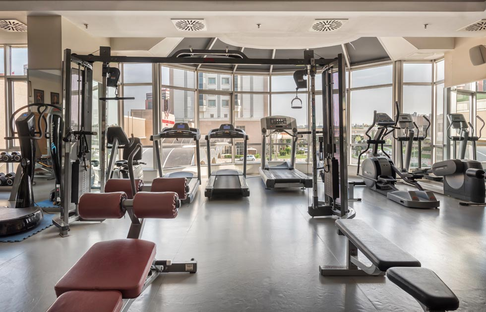 Fitness area at WOW Airport Hotel