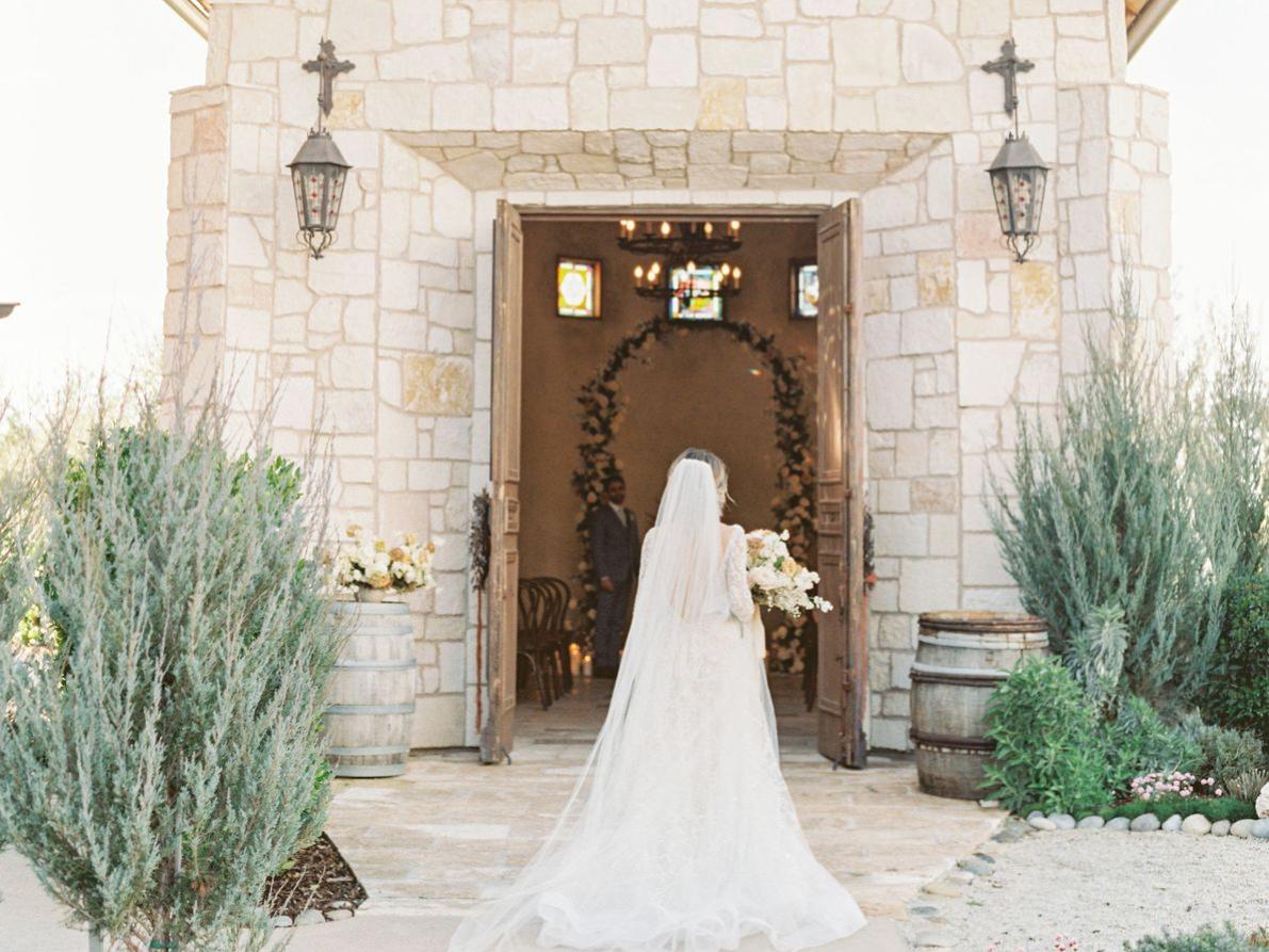 bride facing away from camera