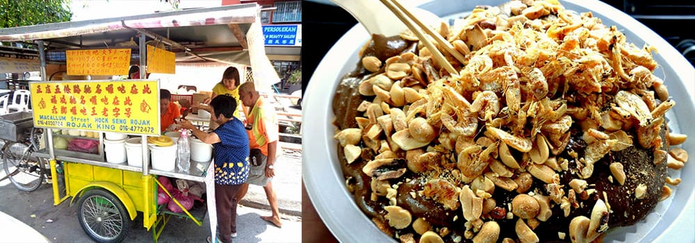 Hong Seng Rojak, one of the famous street food in Penang