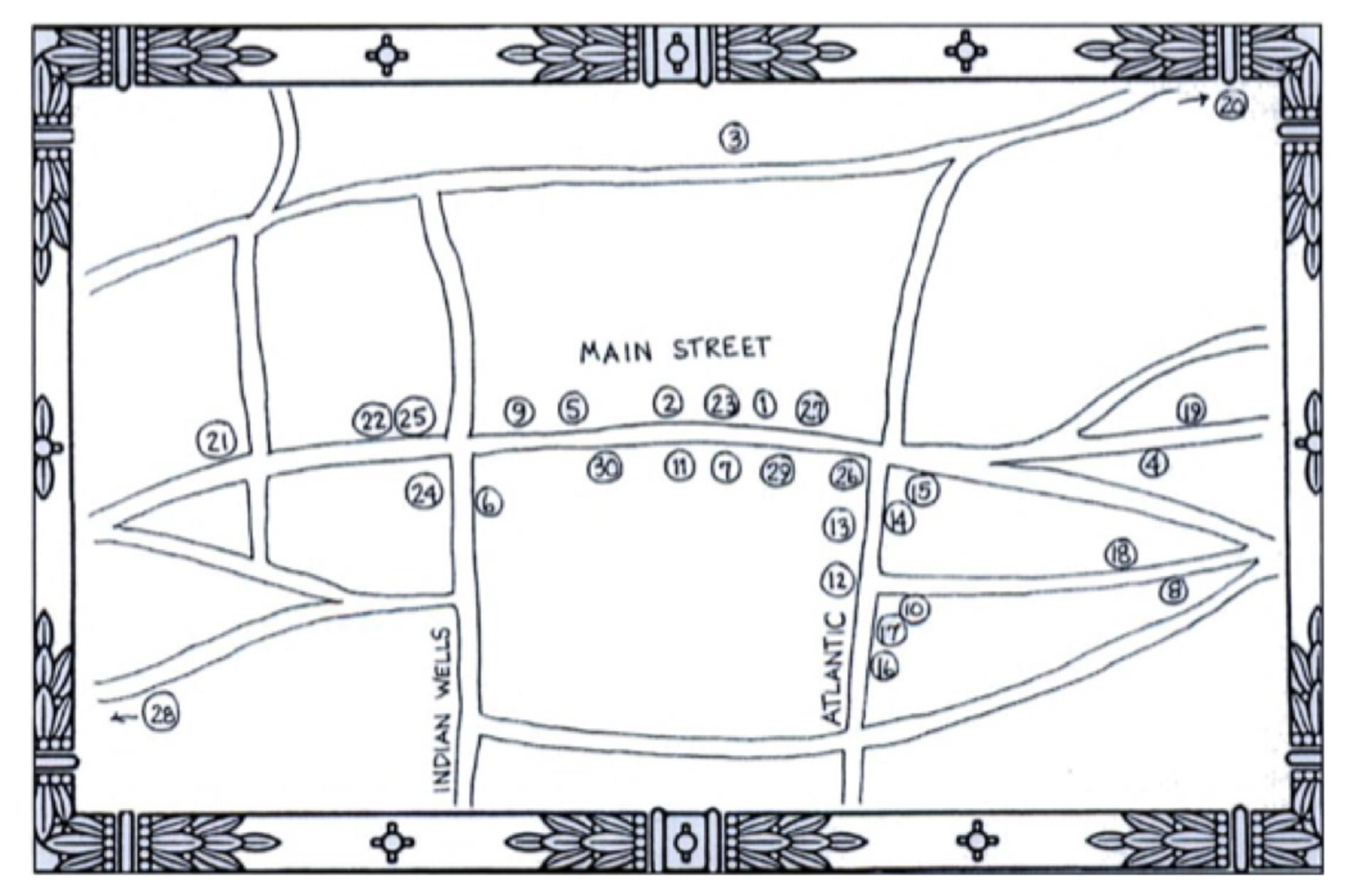 Map of Historic Amagansett, The Roundtree, Amagansett, Hotel in Hamptons