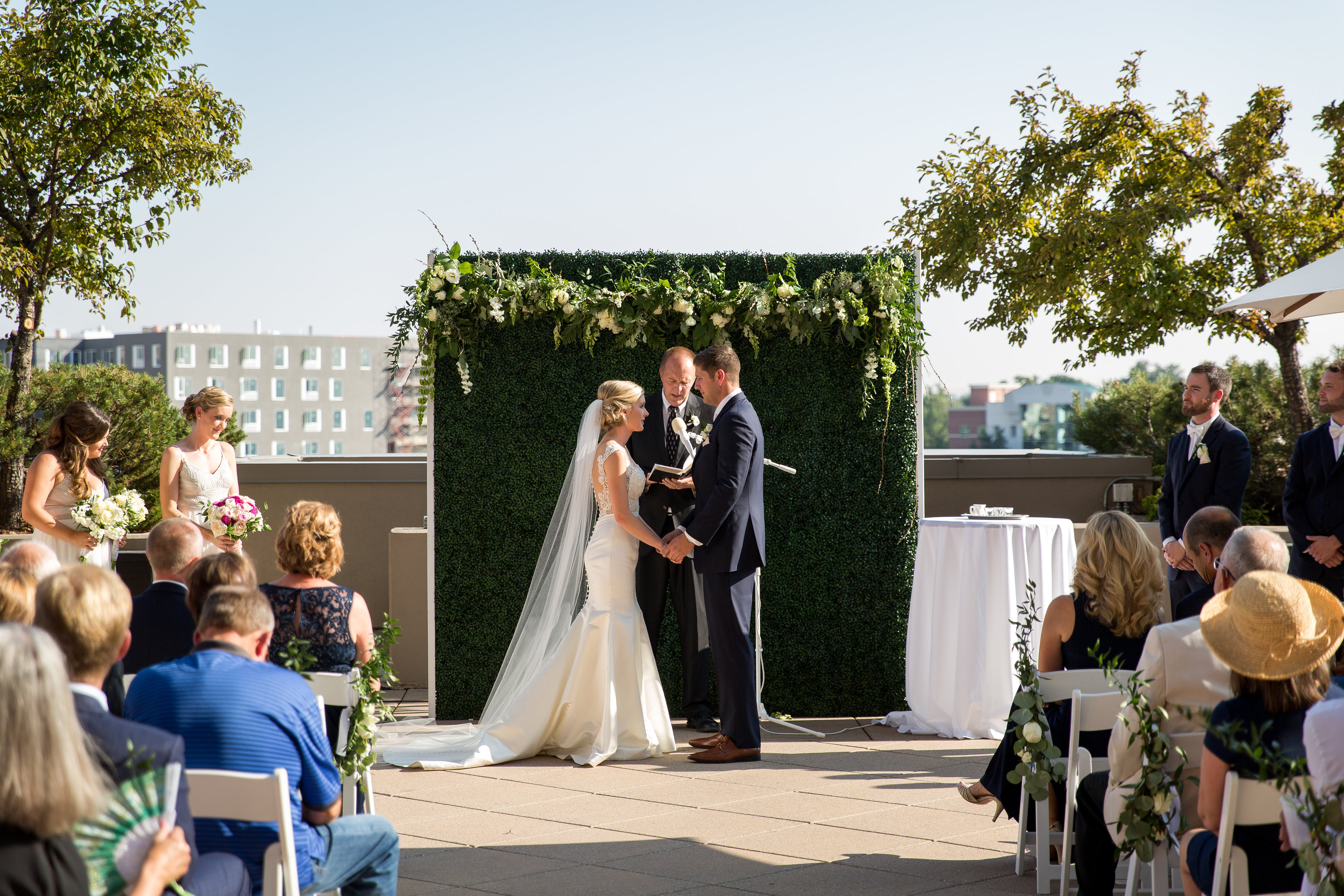 a bride and groom getting married