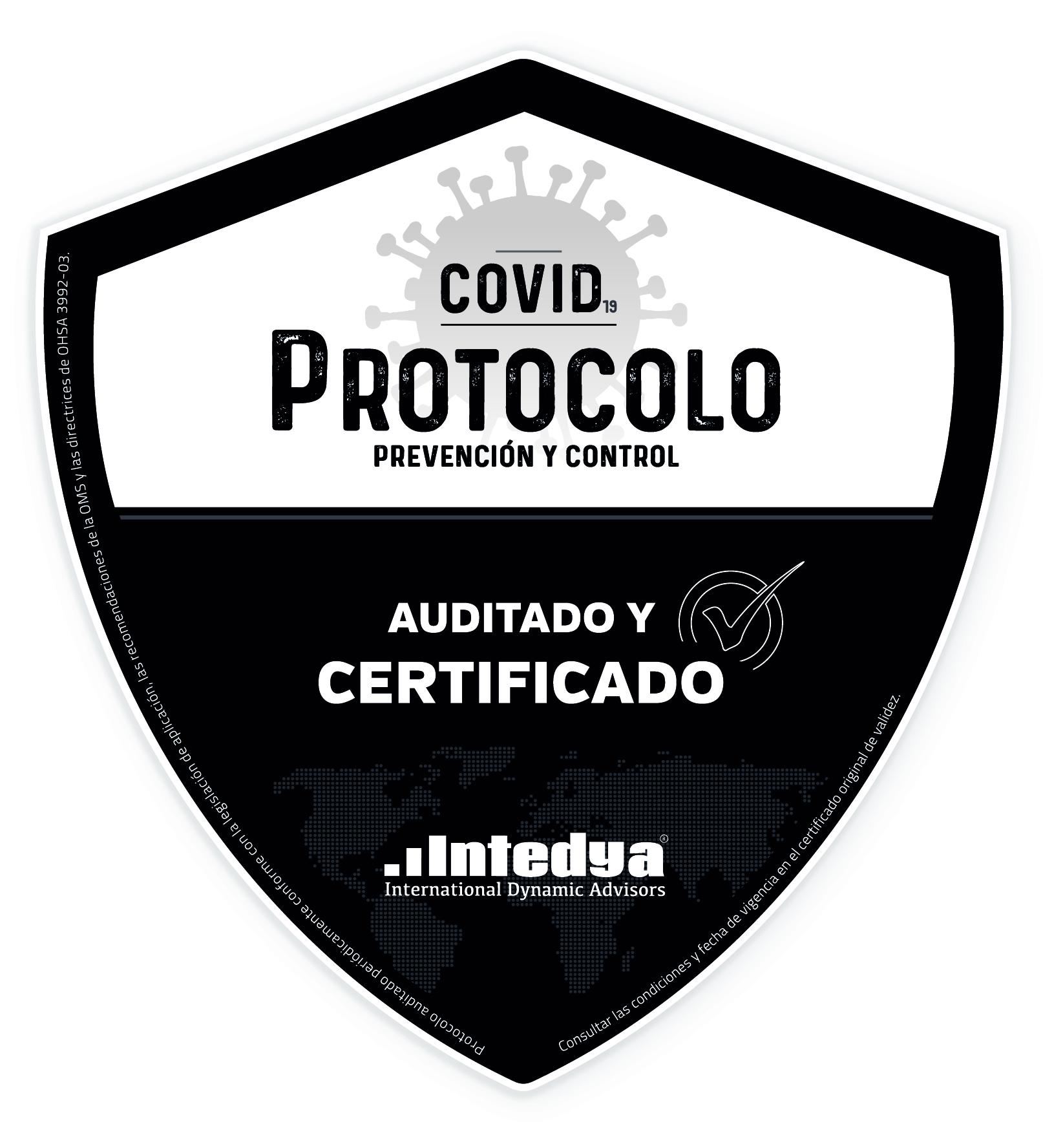 Certificacion protocolo COVID OMS