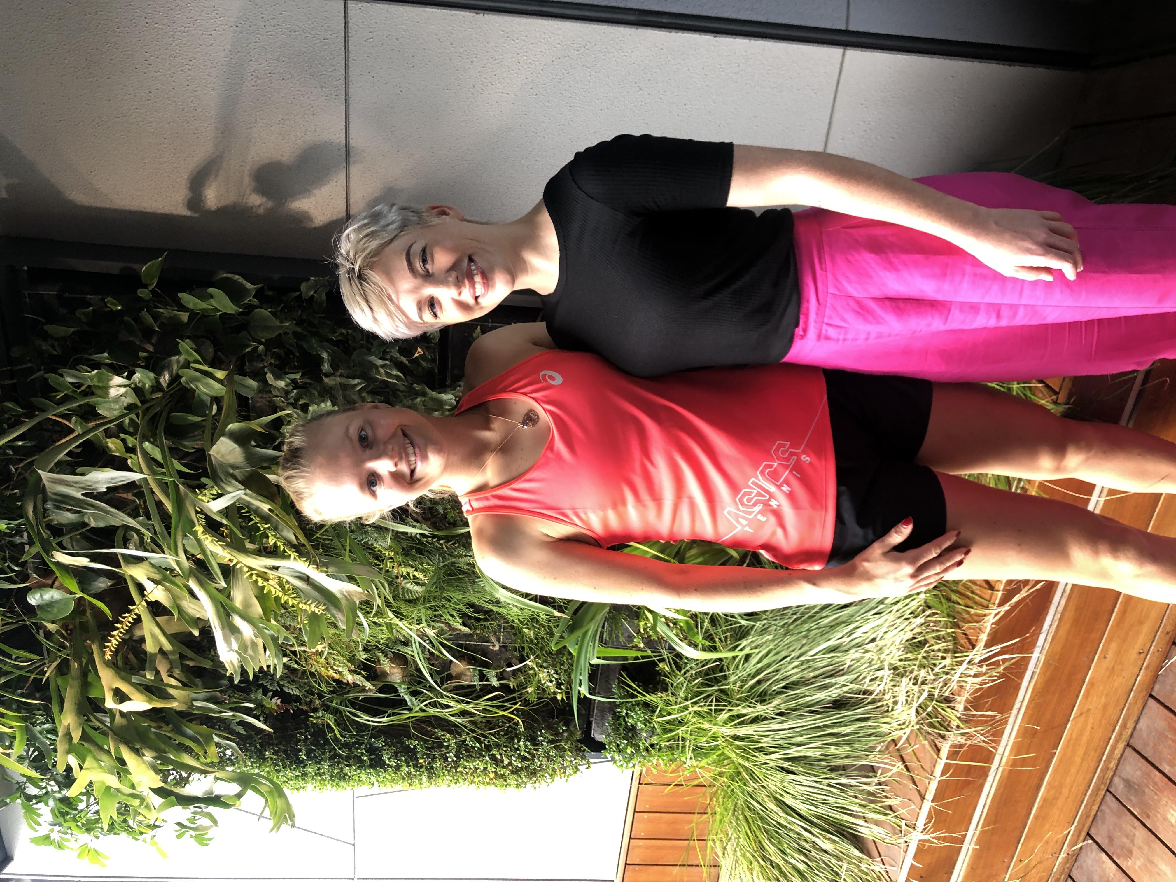 Harriet Dart & Emily Steckelbruck in the Imagine Marco Pool Area2