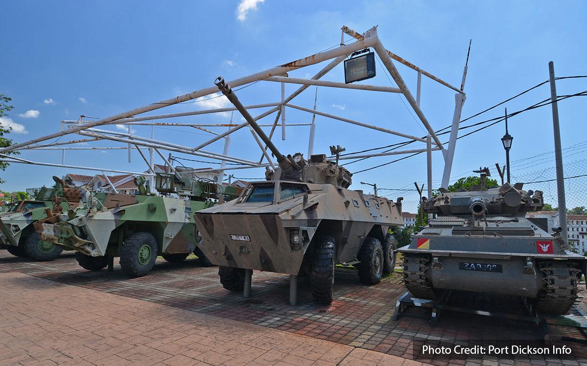 tanks at army museum port dickson