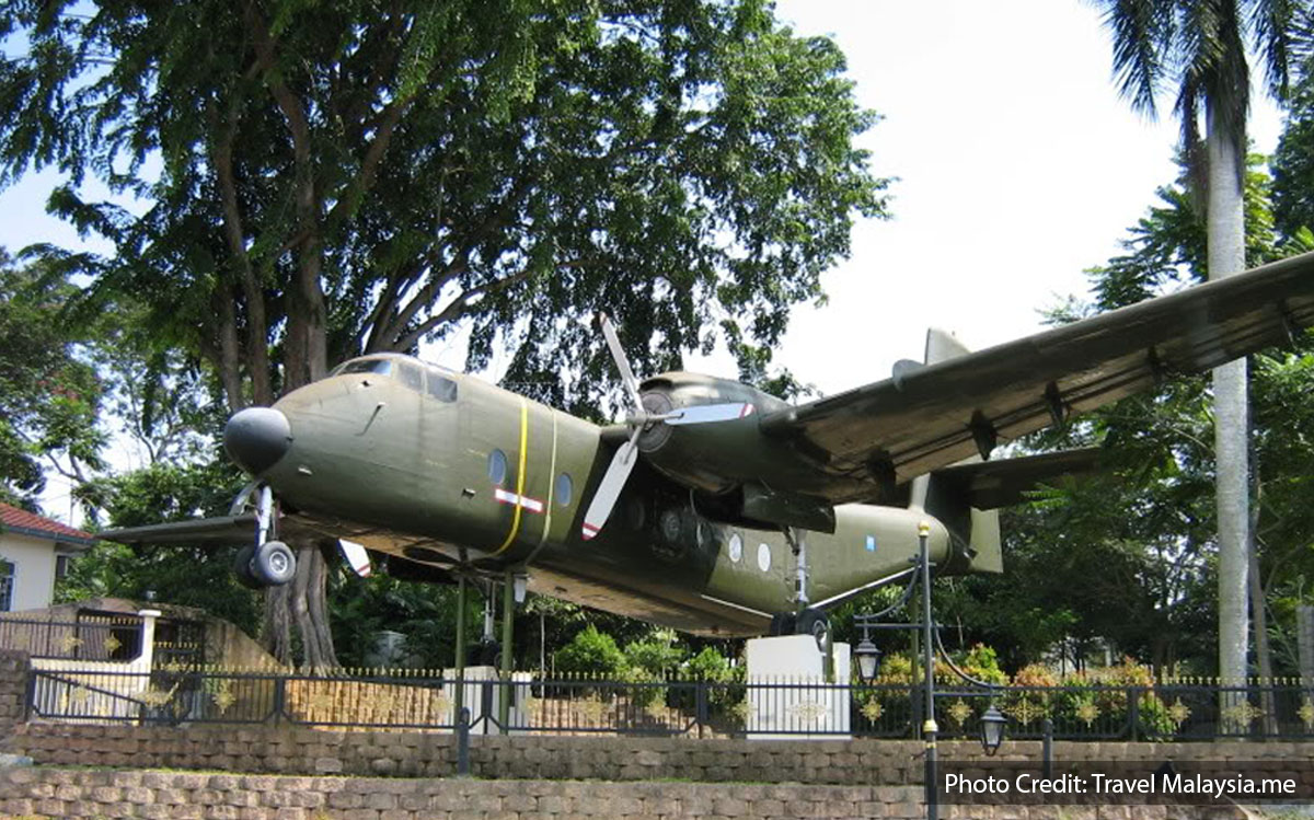 military cargo plane display at army museum port dickson