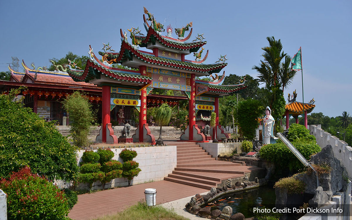 exterior view of wan loong chinese temple port dickson