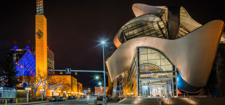 edmonton art gallery at night