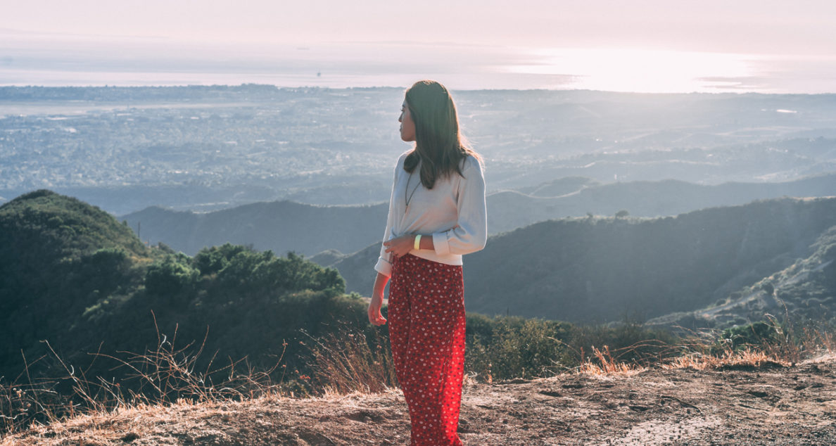 woman standing in the Santa Barbara Hills