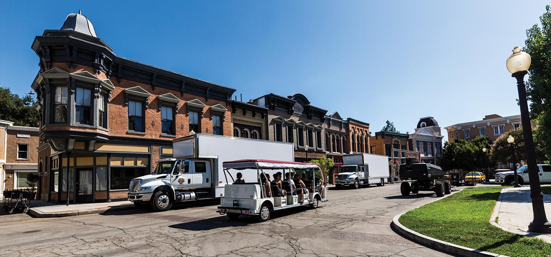 Outside views of the Warner Brothers Studios Buildings