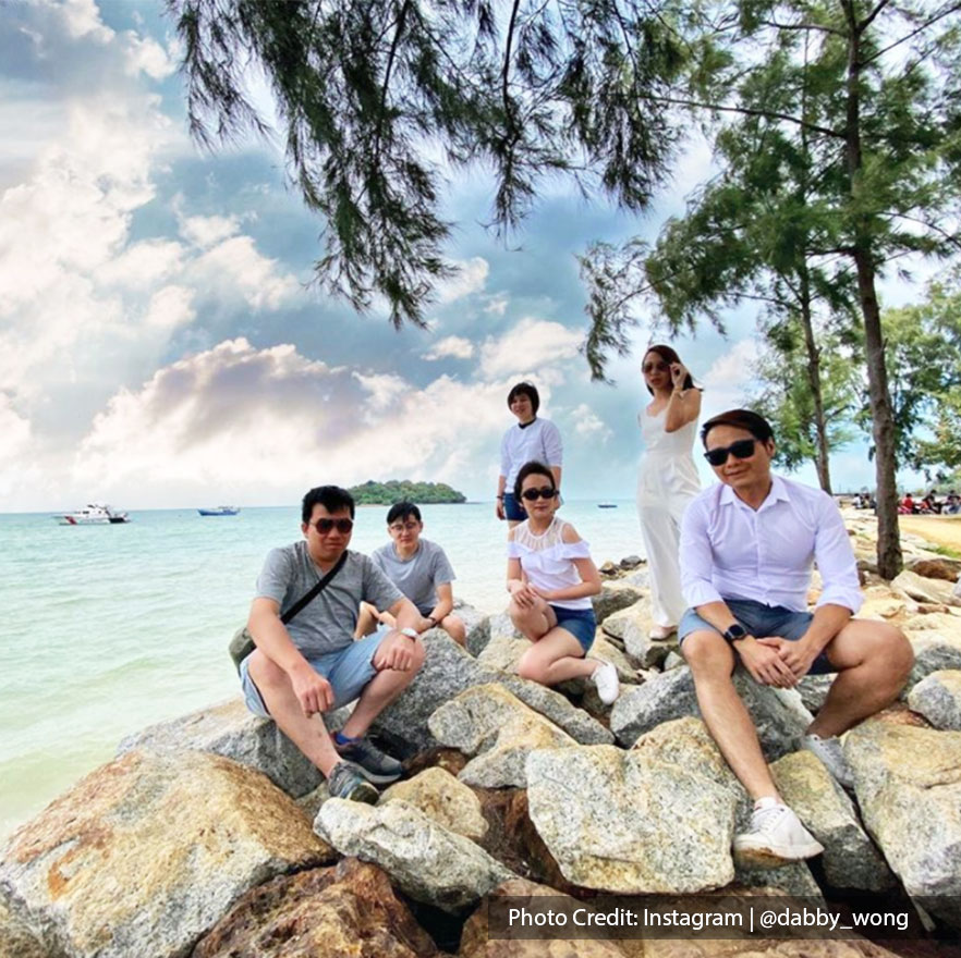 A group of friends posing at PD Water Front