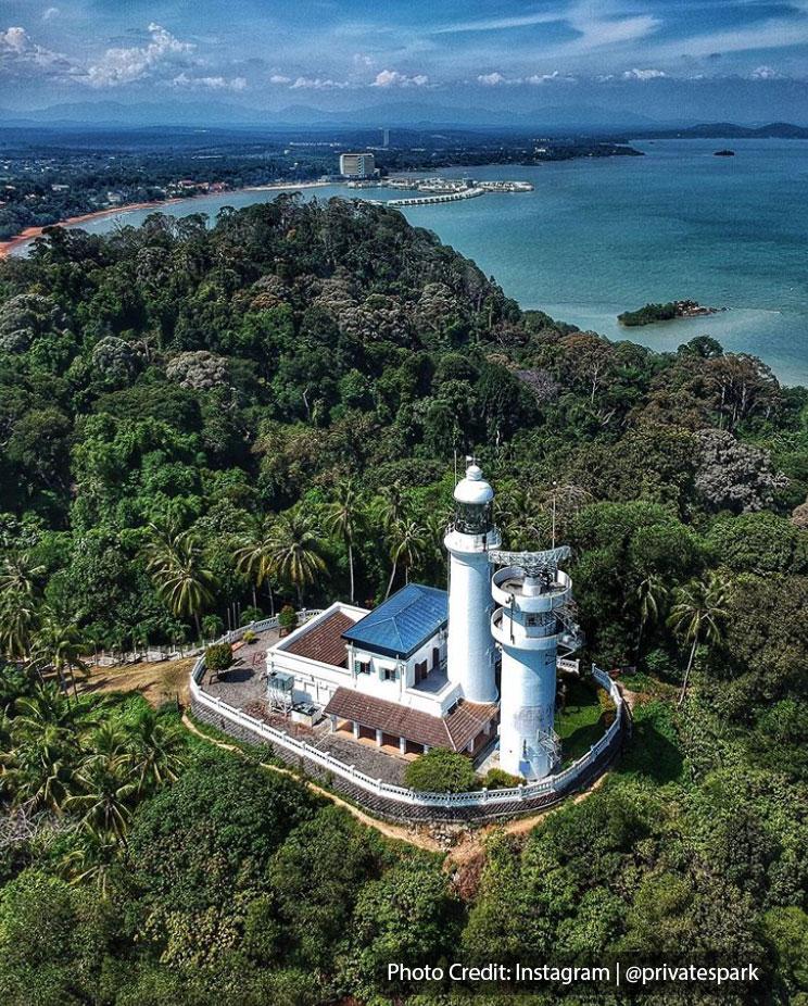 Cape Rachado Lighthouse top view