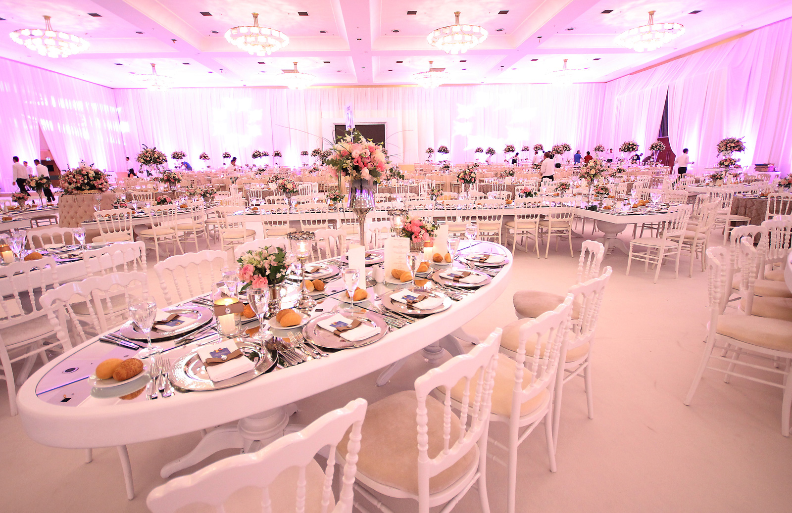 Wedding hall witrh oval shape at Wow Hotels Group