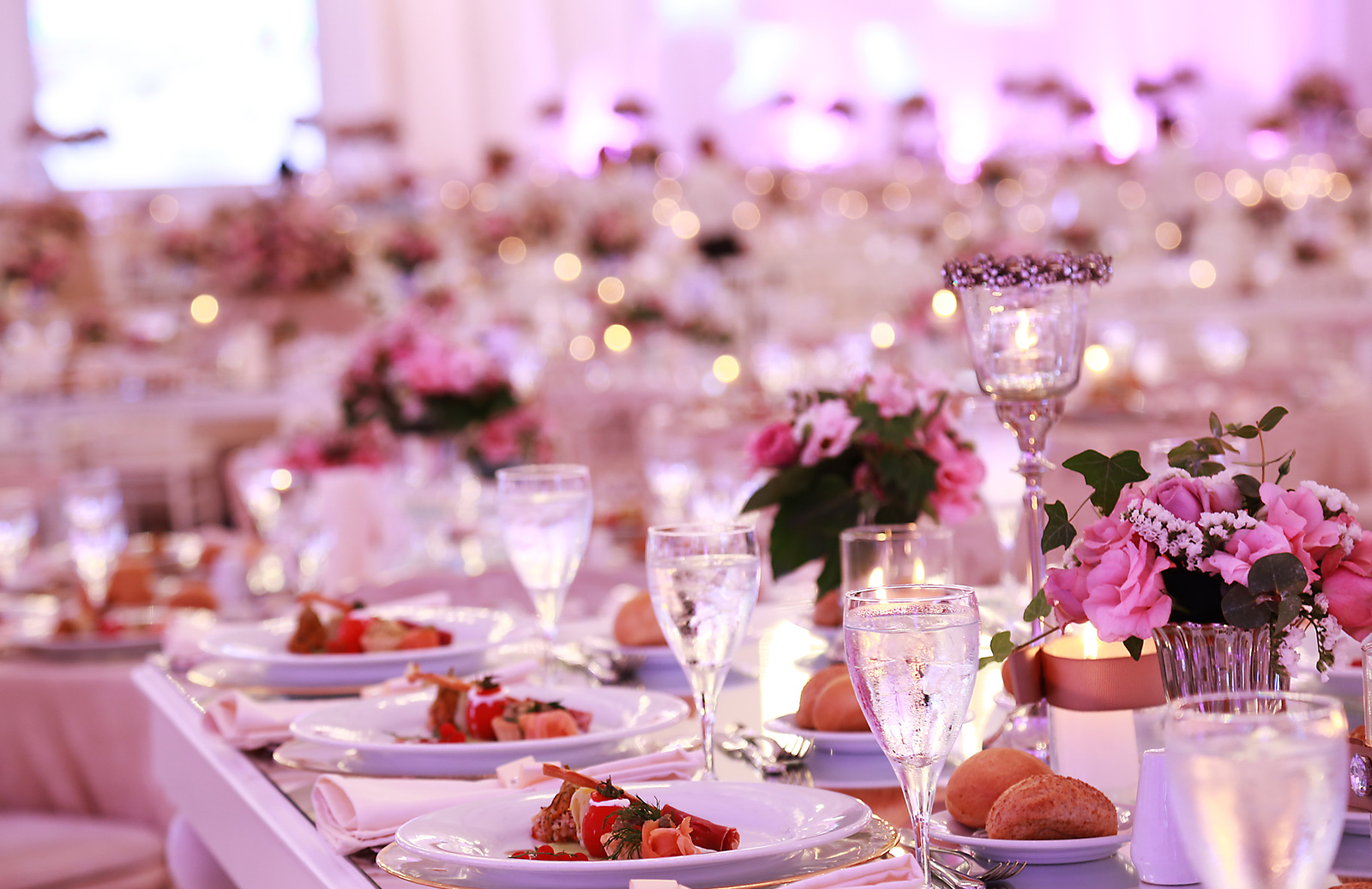 Dining options at a wedding hall at Wow Hotels Group