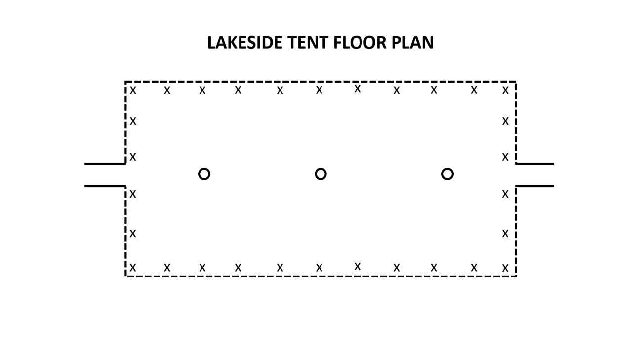 Lakeside Tent Floor Plan