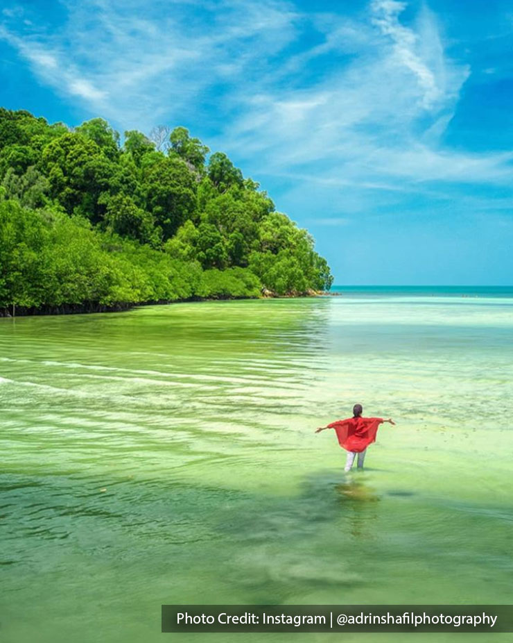 Clear beaches and secluded lagoons of port dickson