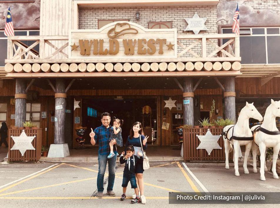 entrance of wild west cowboy segar city port dickson family picture