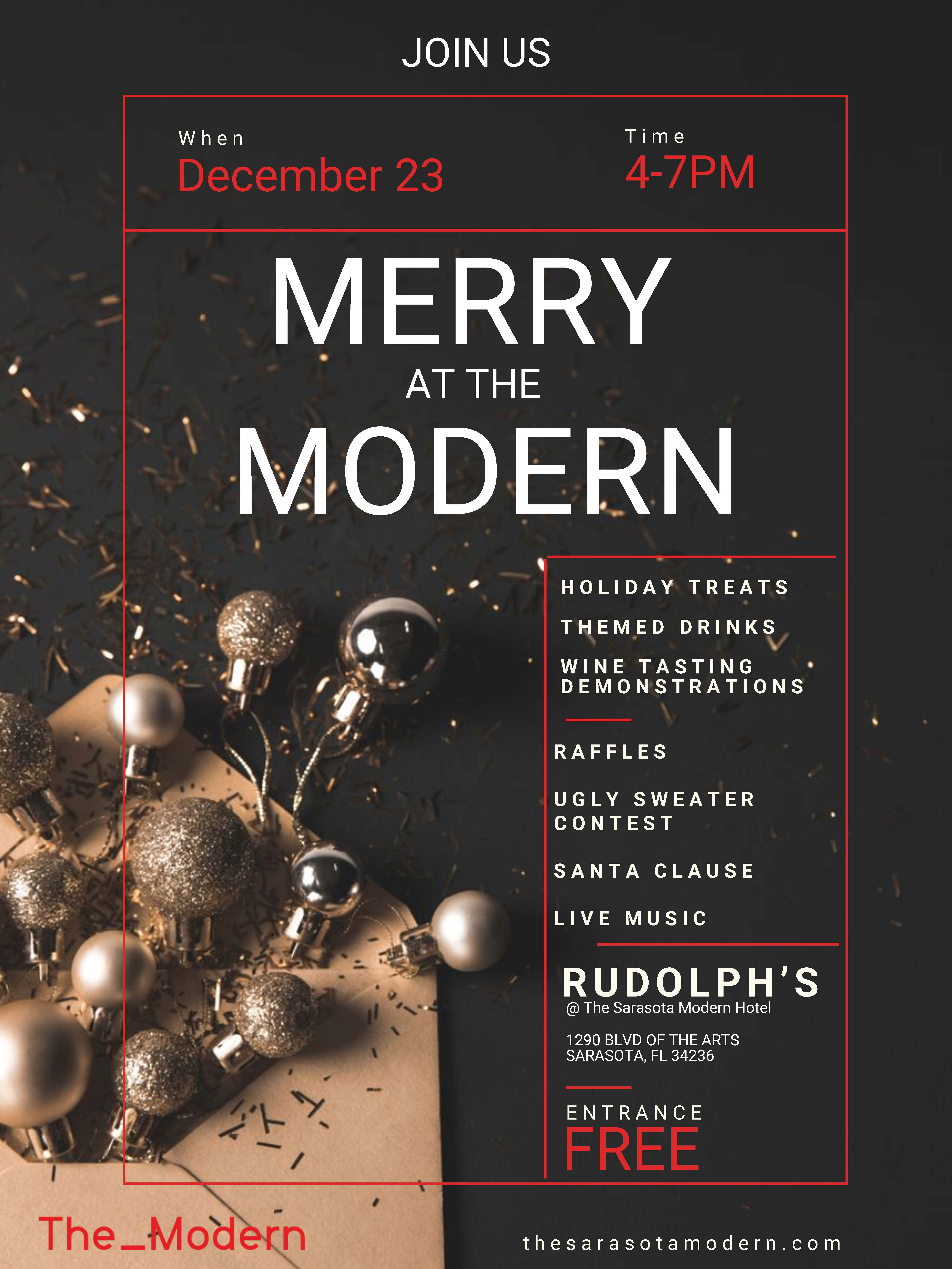 Merry at the Modern Flyer for Dec 23