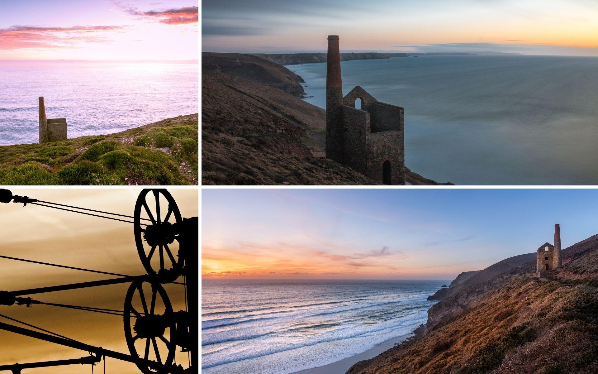 Cornish tin mines on the coast