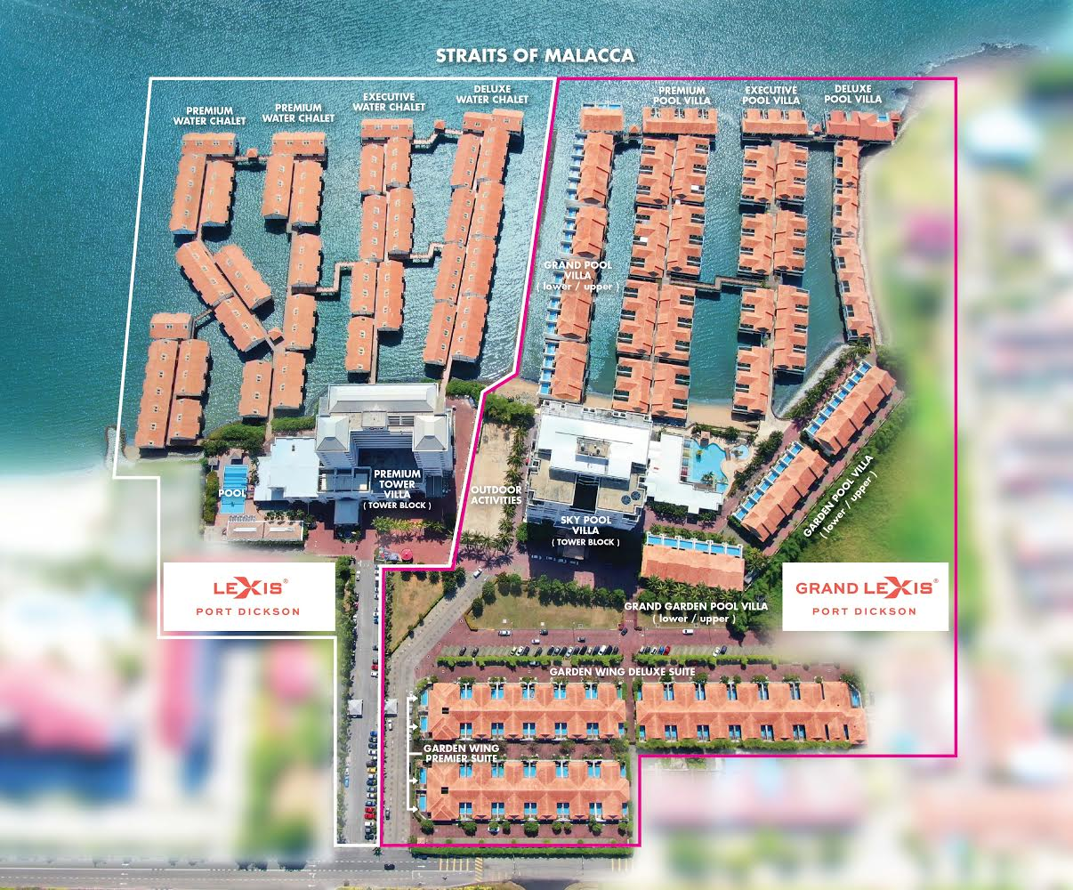 Grand Lexis Port Dickson Room Location Map