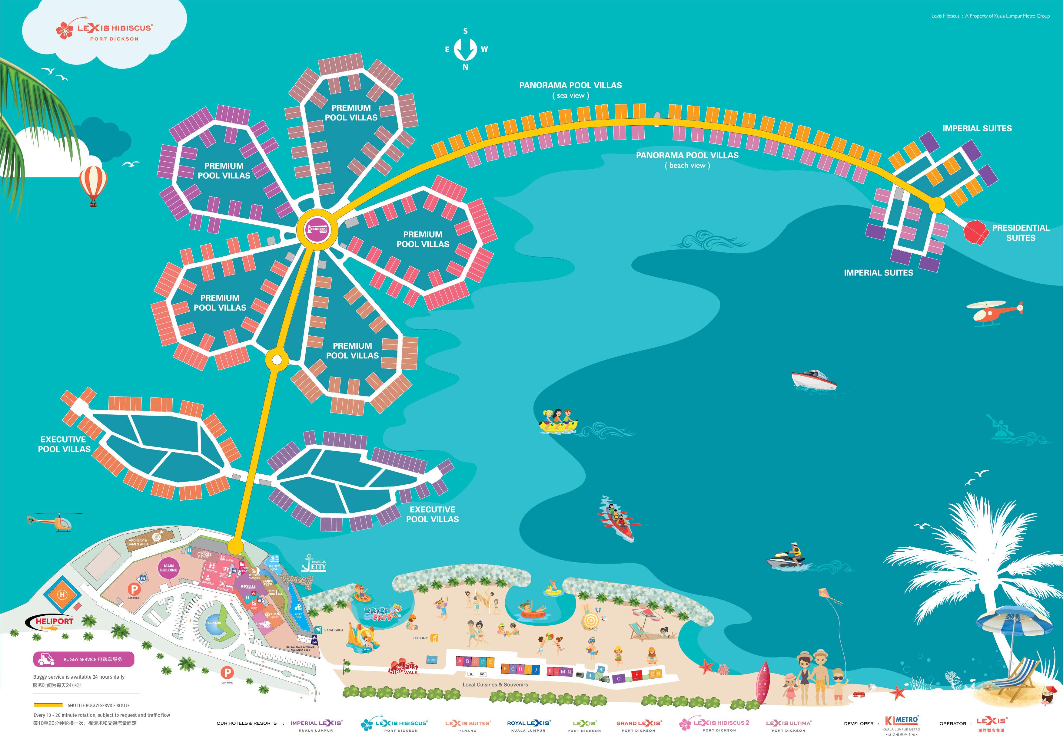 Lexis Hibiscus Port Dickson Room Location Map