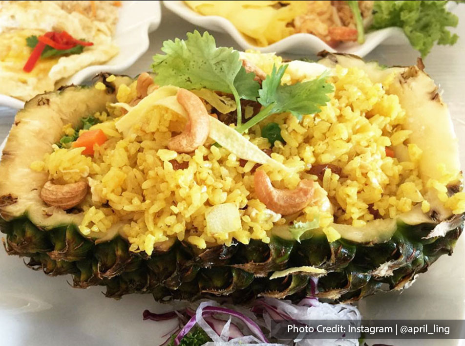 Pineapple Fried Rice from Double Queue Thai Cuisine, halal restaurant near to Lexis Hibiscus Resort