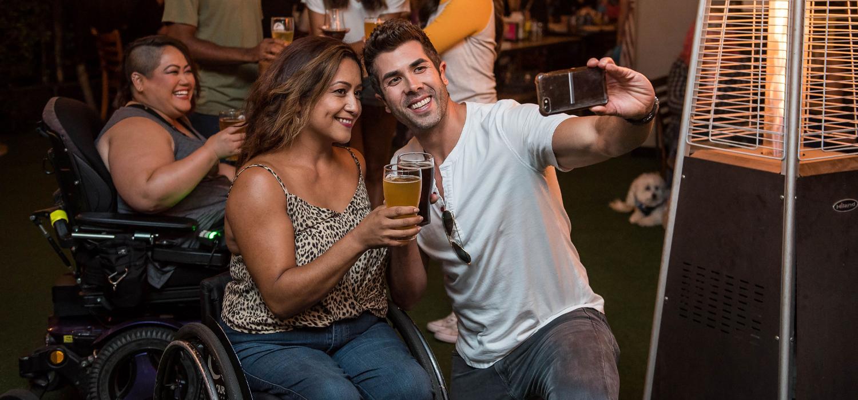 Selfie in a pub