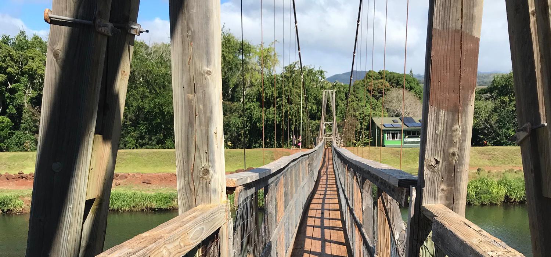 swinging bridge in hanapepe