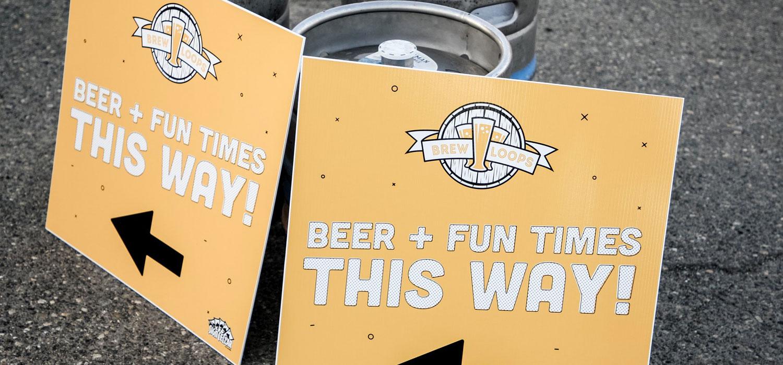 beerloops festival signs