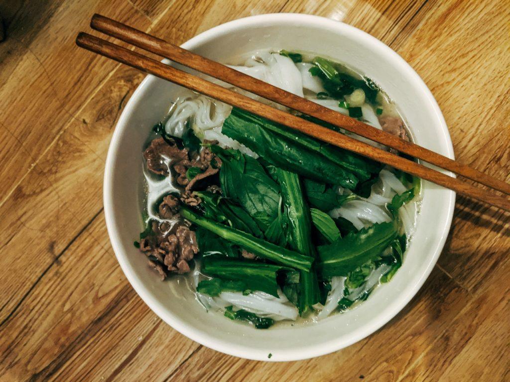 Vietnamese bowl pho soup