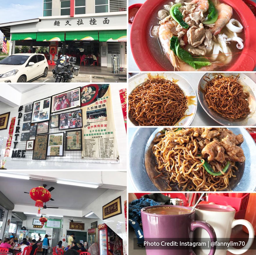 Collage photos of Lazha Mian (Dirty Noodle), one of the best non-halal restaurant in Port Dickson