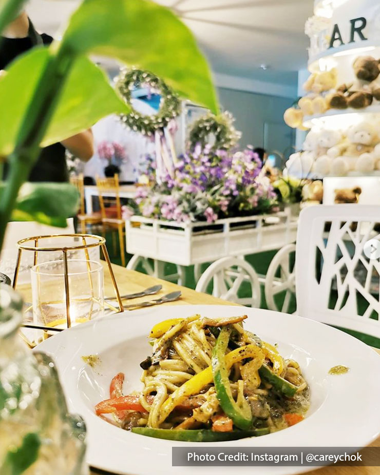 Vegetarian dishes at Legato Floral and Cafe, Port Dickson