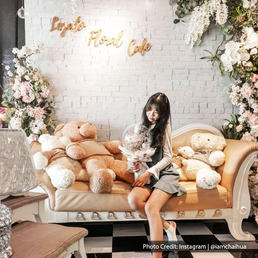 Beautiful interior decor design of Legato Floral & Cafe, Port Dickson