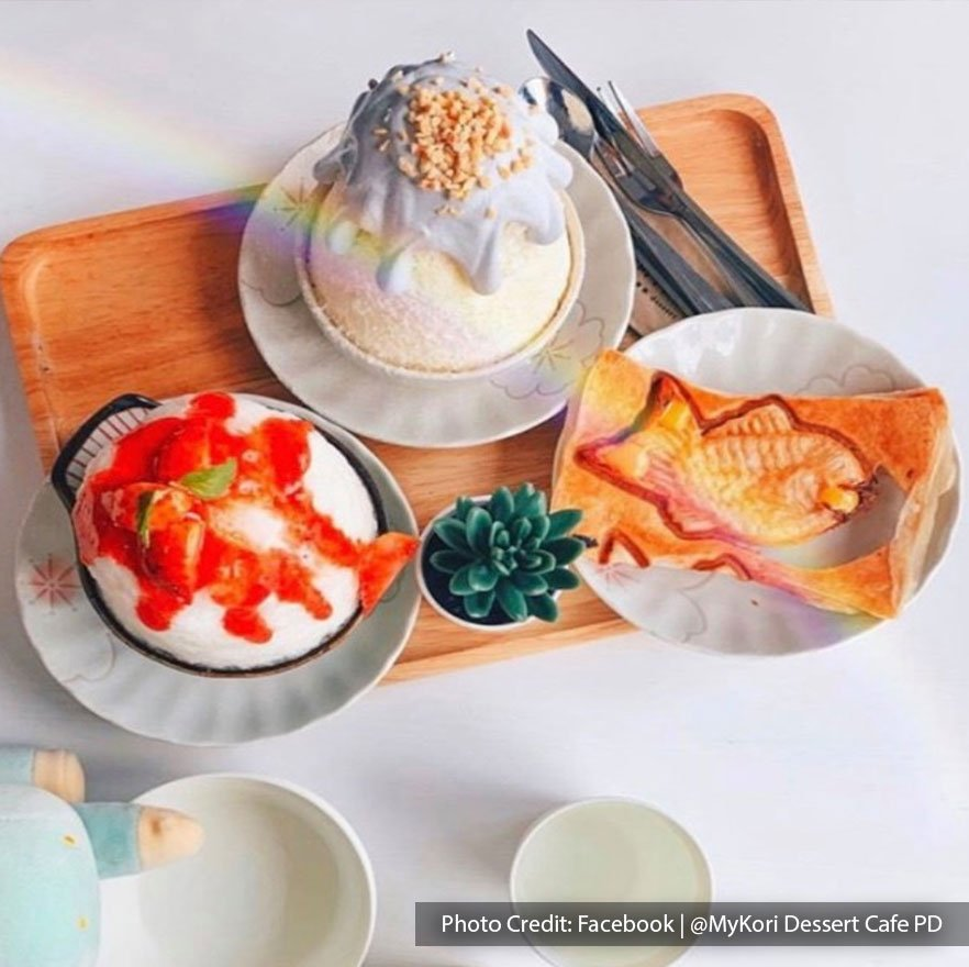 Varieties of shaved ice and desserts at Mykori Dessert Cafe, Port Dickson