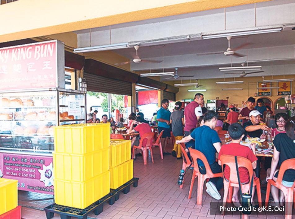 Lucky King Bun coffee shop at Port Dickson