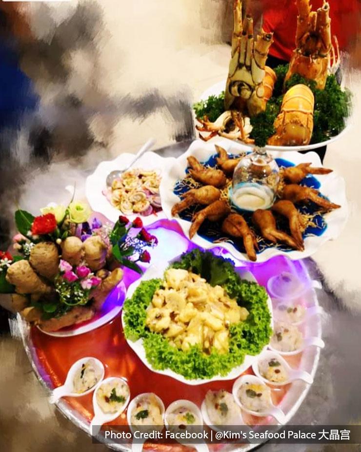 Signature seafood dishes at Kim's Seafood Palace, Port Dickson