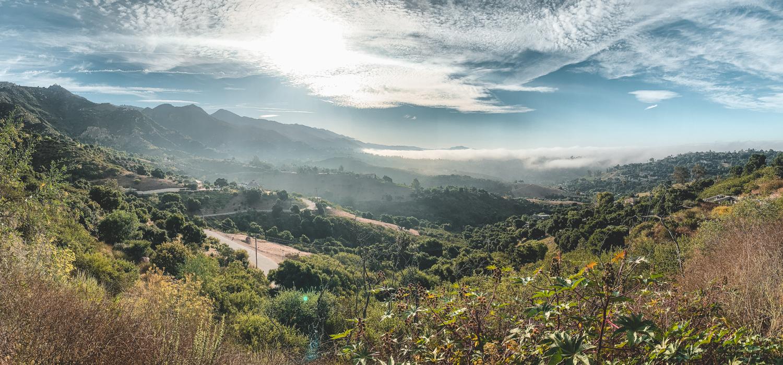 rolling hills behind Santa Barbara