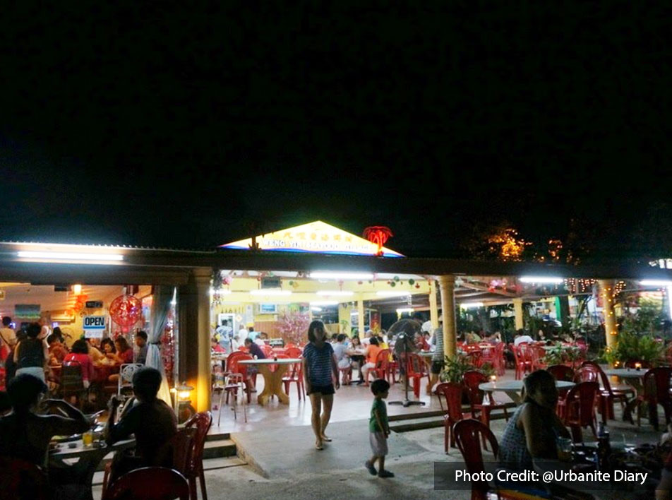 Popular seafood restaurant at Weng  Yin Seafood Village