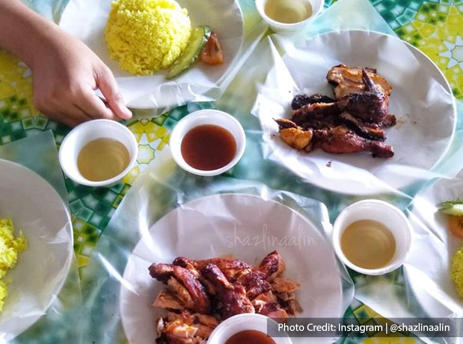 Malaysia port dickson local food ayam bakar pasu with rice