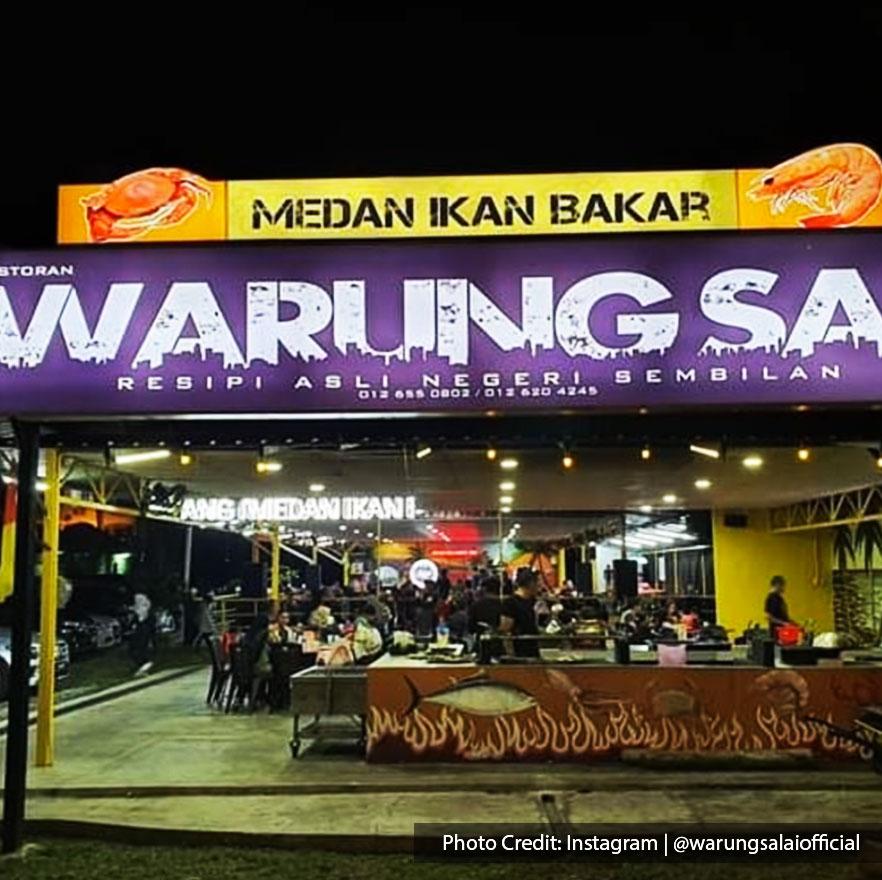 Malaysia port dickson local food restaurant warung salai storefront