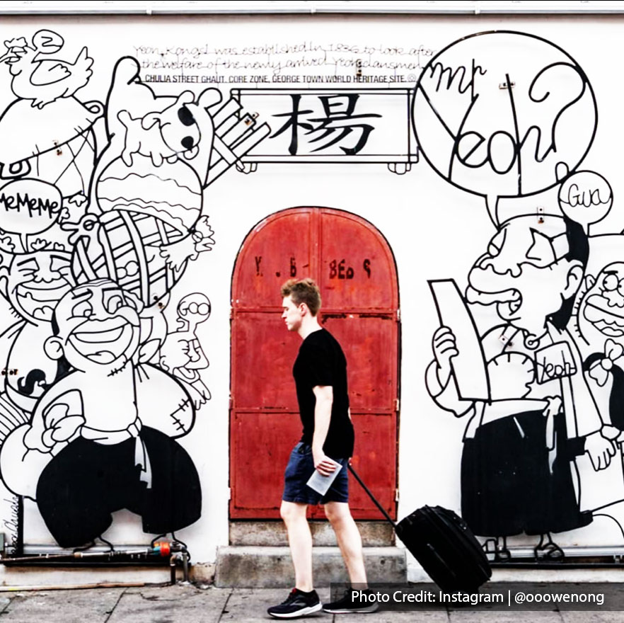 A penang mural of mr yeoh house