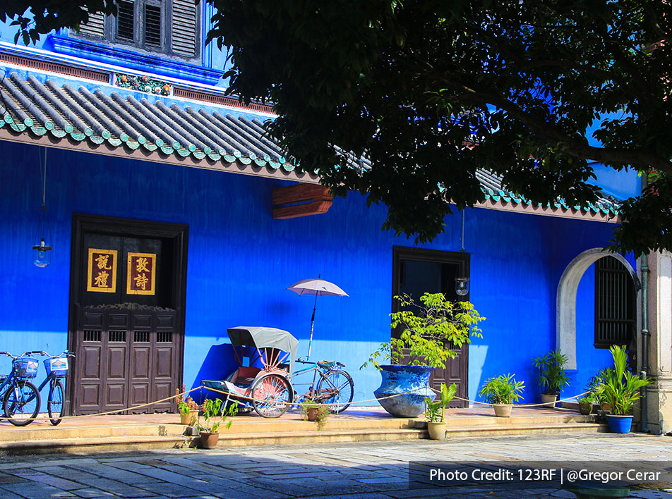 The famous Blue Mansion reflects Chinese architectural styles of the Imperial period